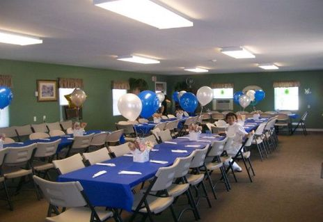 Clubhouse decorated for an event